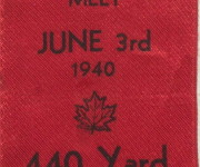 The 3rd Annual Track and Field Meet: 440 Yard Relay First Prize  Ribbon, 1940, Courtesy Arthur Markus (BBHS '44)
