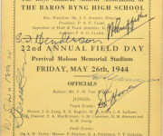 22th Annual Field Day, Molson Stadium, 1944 , Courtesy of Bernard Tonchin (BBHS '47)
