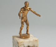 YMHA Art Tabac Trophy Presented to Philip Slabotsky for Wrestling, 1955