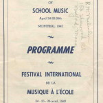 Programme, International Festival of School Music 14 page pamphlet April 24-26 ,1947, Courtesy of Herb Marx (BBHS '50)