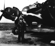Shulemson in front of plane. Credit: Canadian Jewish Archives