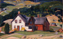 Anne Savage, Untitled (landscape with farm buildings), n. d. Oil on panel , Collection of the Leonard & Bina Ellen Art Gallery, Concordia University, Gift of Mrs. T.W.L. McDermot, 1998, Photo : Denis Farley