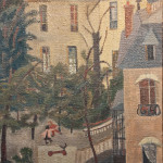 Maisons d'Auteuil, Paris, oil, 1950, courtesy of the artist