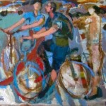 Bicycle messengers,  Acrylic, 2003 , courtesy of the artist