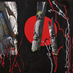 Totems I, Mixed media on canvas , 2009,  48 x 60 in, courtesy of the artist