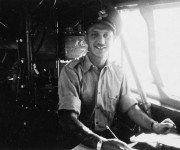 Sydney S. Shulemson, in an Avro Anson aircraft, No. 1 General Reconnaissance School, RCAF, Summerside, P.E.I., 1942 Credit:  Library and Archives Canada / C-000719