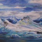 Iceberg View, acrylic on canvas, courtesy of the artist