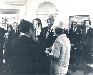 Ben Frank in the oval office (far right) during the 1971 swearing in of William Casey for the chairmanship of the Securities and Exchange Commission. Frank represented Casey through the senate confirmation process. It is interesting to note that the Judge, John Sirica, was later responsible for NIxon's impeachement.
